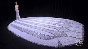 world39s largest beaded wedding dress gail be designs With biggest wedding dress