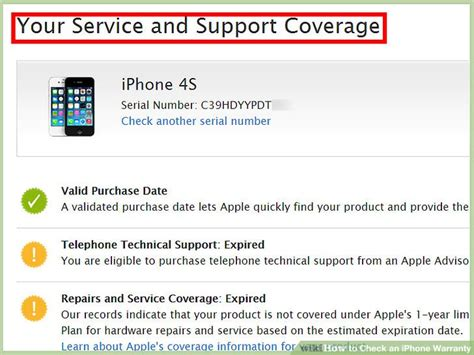 iphone warranty check how to check an iphone warranty 9 steps with pictures Iphon