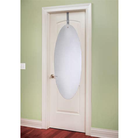 over the door mirror with lights the shatterproof over the door mirror hammacher schlemmer