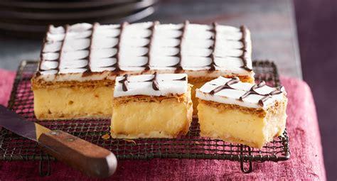 perfectly traditional vanilla slice recipe  homes