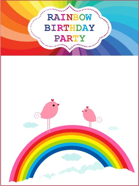 Rainbow Birthday Invitations Ideas Bagvania FREE