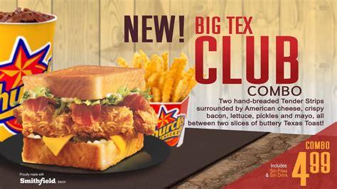 digital menu board big tex club  churchs chicken