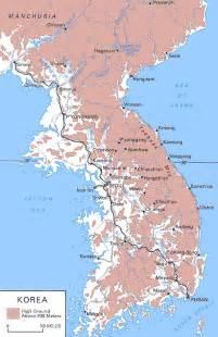 Korea Korean War Map