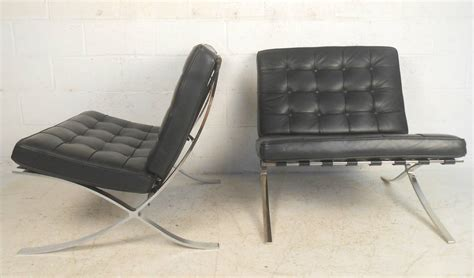 knoll style chrome frame barcelona chairs for sale at 1stdibs