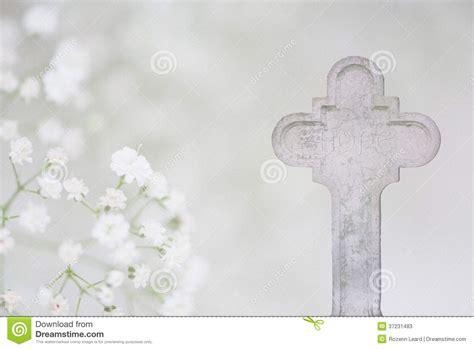 white cross  hope funeral card stock image image
