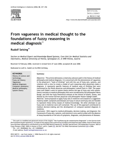 (PDF) Seising, R.: From vagueness in medical...