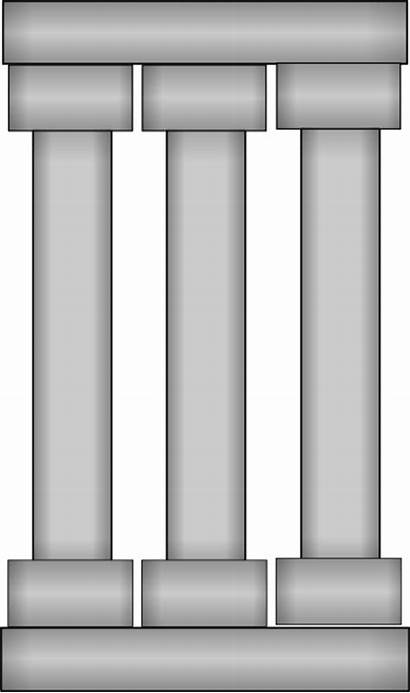 Columns Three Pillar Clip Clipart Cartoon Column