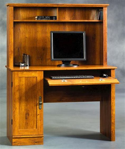 Menards Sauder Computer Desk by Sauder Harvest Mill Oak Computer Desk With Hutch At