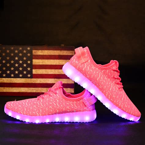 yeezy light up shoes led light up yeezys trainers pink white buy