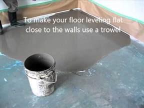 self leveling floor compound how to prepare and put concrete floor leveling