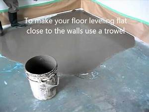 self leveling floor compound how to prepare and put youtube With self leveling floor resurfacer
