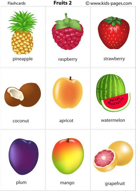 Fruits Flashcards  It's Fun To Learn