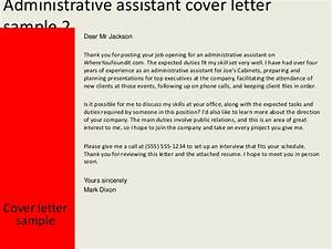 administrative assistant cover letter With strong work ethic cover letter