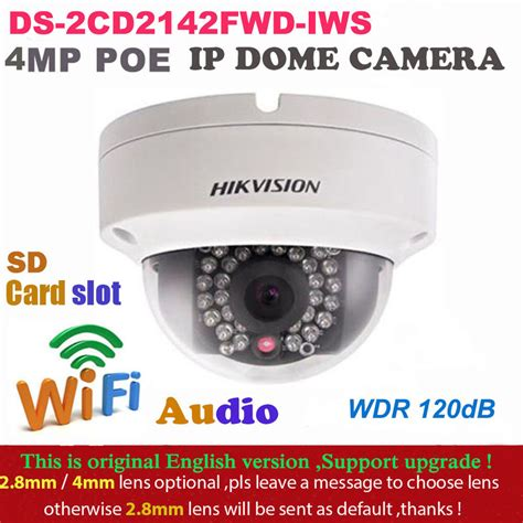 original hikvision ds 2cd2142fwd iws poe wifi 4mp wdr fixed dome network ebay