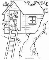 Coloring Tree Printable Farm Chores Sheets Houses Colour Fortune Teller Building Adult Drawing Clipart Treehouse Getcolorings Raisingourkids Colouring Getdrawings Wild sketch template