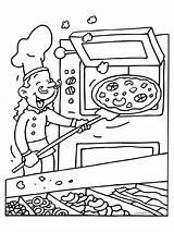 Restaurant Kleurplaat Coloring Oven Knutselen Pizzabakker Template Kleurplaten Mewarna07 Pixel sketch template