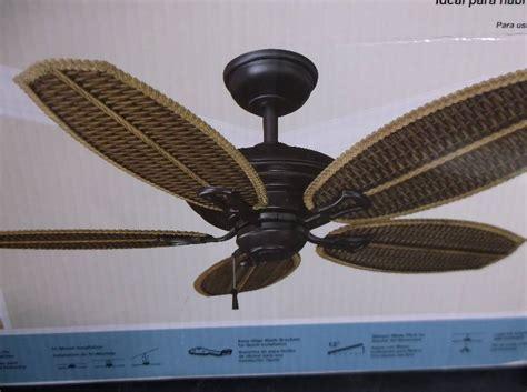 ceiling fan wobbles in one direction hton bay 48 inch palm ii ceiling fan