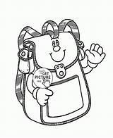 Coloring Bag Printable Colouring Printables Kindergarten Smiling Sheets Space Cat sketch template