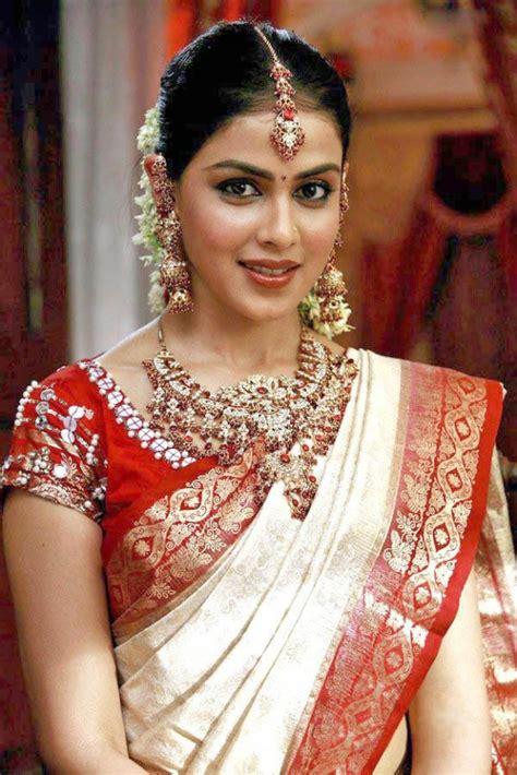 tamil actress bridal saree gallery collections