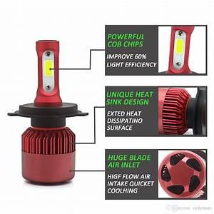 Led H4 Car Headlight Bulb Canbus H7 72w 8000lm H1 H3 Hb3