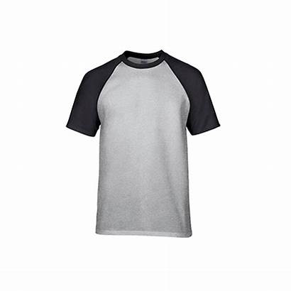 Grey Raglan Sport Shirt Gildan Cotton Adult