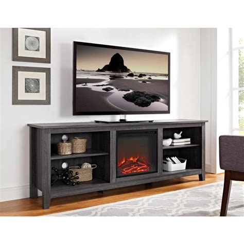 furniture fireplace tv stand walker edison furniture company 70 in wood media tv stand