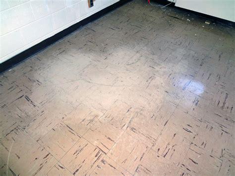 asbestos floor tile wear damage