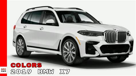 2019 Bmw Colors by 2019 Bmw X7 Suv Colors
