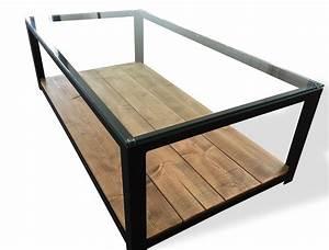 Table Bois Et Verre : table basse en bois et verre id es de d coration int rieure french decor ~ Teatrodelosmanantiales.com Idées de Décoration