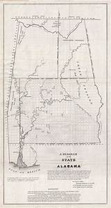 A Diagram Of The State Of Alabama   Geographicus Rare