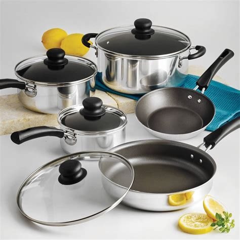 pots pans cookware nonstick piece cooking non pan pot tramontina stick put kitchen dishwasher sets amazon simple never should things
