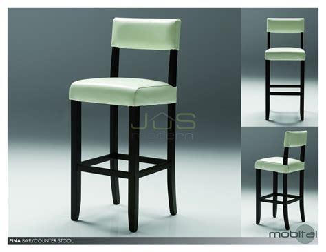 pina counter bar stool leather wood back copy decobizz com