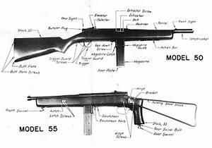 Reising Model 50  M50  M55  Submachine Gun  Smg     Carbine