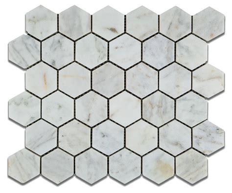 2 marble hexagon tile 2x2 hexagon bianco carrera venatino polished marble mosaic tile