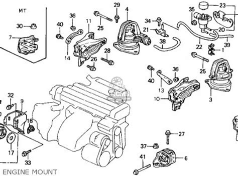 Acura Legend Motor Mount Diagram by Honda Accord 1992 2dr Lx Ka Kl Parts List Partsmanual