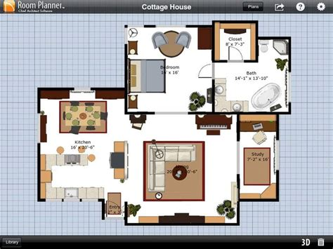 Room Planner by Fascinating Cottage House Plans Using Room Planner App