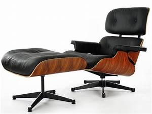 Fauteuil Cuir Et Bois : fauteuil lounge eames bois de rose ~ Teatrodelosmanantiales.com Idées de Décoration