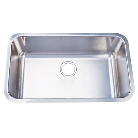 undermount kitchen sink for 30 inch cabinet kingston brass gourmetier gkus3018 undermount single bowl 9814