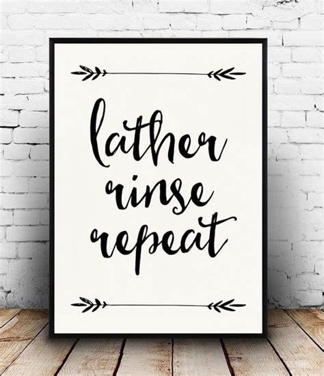 Rude Bathroom Signs by Lather Rinse Repeat Print Bathroom Quote Bathroom Decor