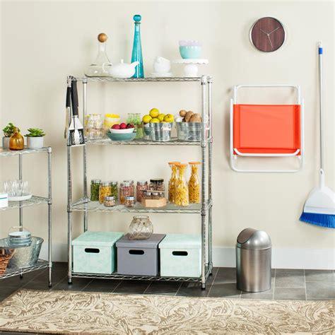 Decorative Storage Shelves - safavieh bravo 3 shelves chrome wire decorative shelving
