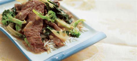 cuisiner des courges sauté de boeuf au gingembre et au brocoli recette