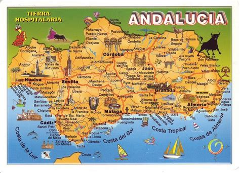 andalucia map spain andalusia spain spain andalucia