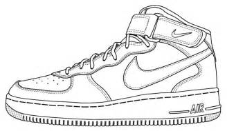 Clothing Line Sheet Template Nike Air 1 Drawing