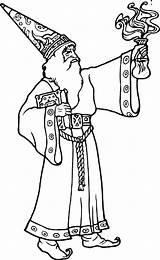 Coloring Magic Colorear Dibujos Magos Wizard Spell Desenhos Bruxo Bestcoloringpagesforkids Pintar Cuentosparacolorear Fantasia Witch Blanco Genio Monstros Duendes sketch template