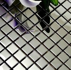 wholesale backsplash tile kitchen polished silver metal mosaic tile smmt018 square stainless