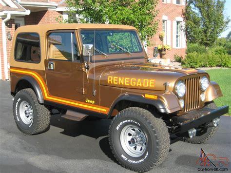 renegade jeep cj7 1985 jeep cj7 renegade nut and bolt restoration amc v8