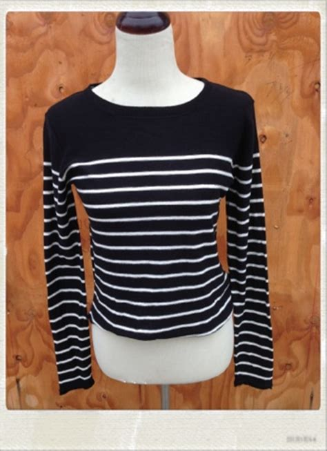 and white striped sweater striped sweater with patches black or navy blue