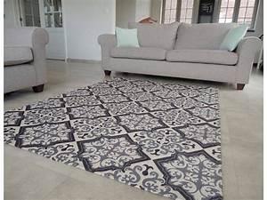 tapis vintage gris et noir onlinemattenshopbe With tapis salon gris