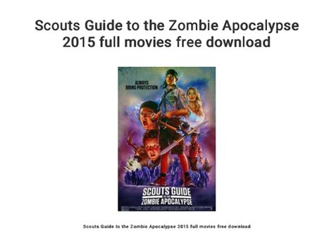 zombie apocalypse scouts guide movies movie