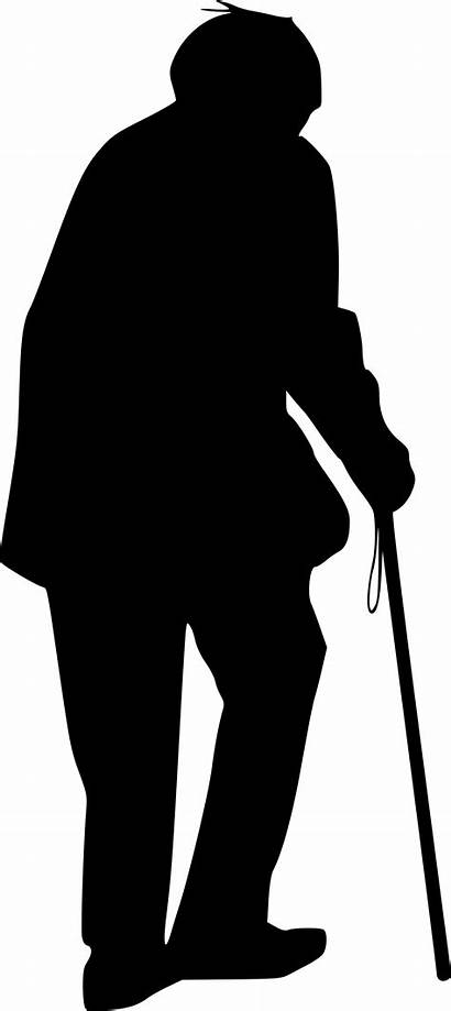 Person Elderly Silhouette Transparent Onlygfx Px Sihouette